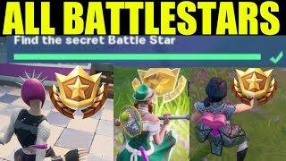 Fortnite - France ALL Secret battle Stars Saison 10 - Semaine 1 à 7 Emplacements (Saison X)
