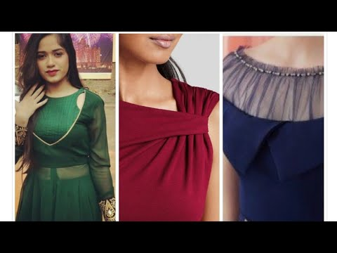 Top 71 Latest/stylish neck design neckline for kurti/frock/gown/top/blouse/suit/western dress 2019.