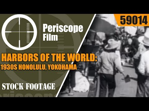 HARBORS OF THE WORLD: 1930s HONOLULU, YOKOHAMA, RIO DE JANEIRO, LE HAVRE, ALEXANDRIA  59014