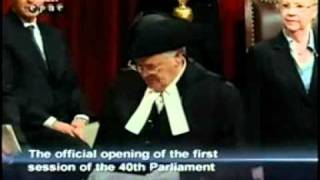 1st Throne Speech of 2008 part 1