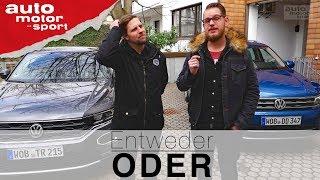VW T-Roc vs. VW Tiguan  Entweder ODER   (Vergleich/Review) auto motor und sport Video