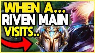 WHEN A RIVEN MAIN VISITS CHALLENGER ELO! (League of Legends)
