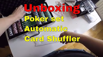 Unboxing Piatnik poker chips and automatic card shuffler.