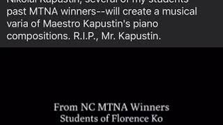 Kapustin- Concert Etude. Sonatas.... 4 Hands.