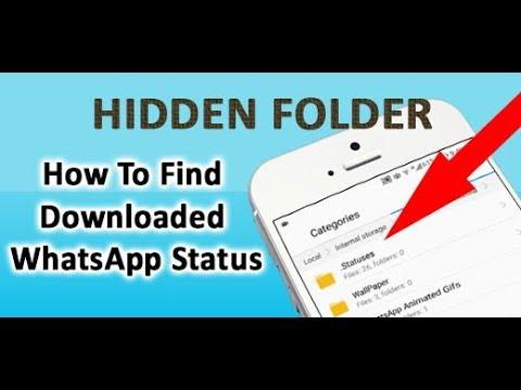 Hidden Folder For Whatsapp Status New Trick 2018 Auto Download