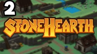 Stonehearth 1.0 #2 - Building Castles and Readying Troops!