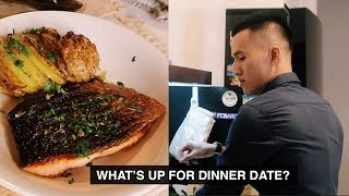 CÁ HỒI FUSION CHO BỮA TỐI HẸN HÒ | Anh bạn thân Cooking | Vlog