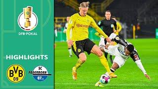 Haaland schießt BVB weiter! | BVB - Paderborn 3:2 | Highlights | DFB-Pokal Achtelfinale