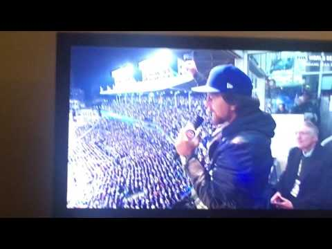 "Pearl Jam's Eddie Vedder Yarls ""Take Me Out to the Ballgame"", October 30, 2016 World Series Chicago"