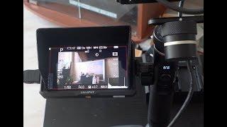 Распаковка накамерного монитора Lilliput A5, покупка за донат, видео тест.
