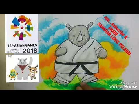 Cara Menggambar Dan Mewarnai Maskot Asian Games 2018 Drawing Asian