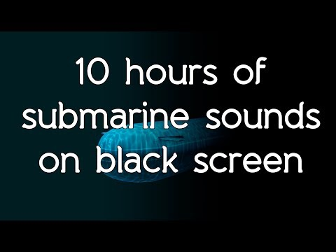 🎧 Submarine sonar sounds on black screen dark screen high quality white noise ASMR
