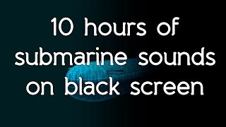 Gambar cover 🎧 Submarine sonar sounds on black screen dark screen high quality white noise ASMR