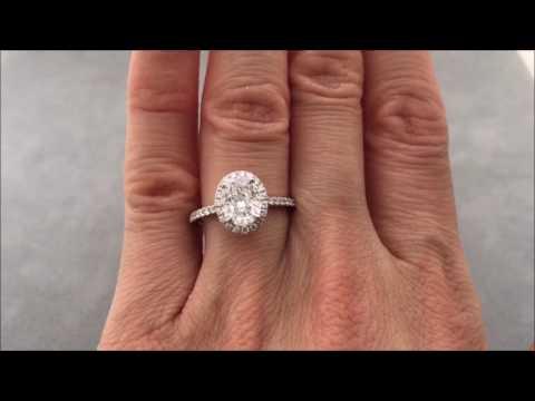1.90 ctw Oval Cut Lab Grown Genuine Diamond on Finger