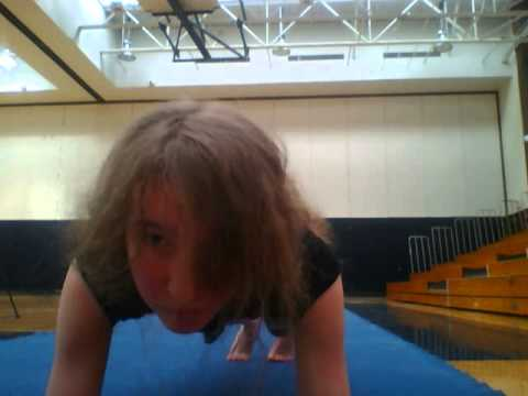 Attempt to Beat Longest Time in an Abdominal Plank Position (Front View)