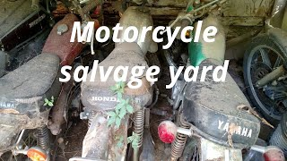 Motorcycle salvage yard. Will it run Suzuki Drz 250 will it run