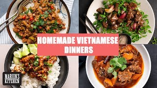 4 Vietnamese Dinners You Can Make At Home ✌️| #StayHome #WithMe | Marion's Kitchen
