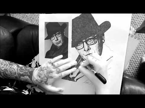 James Spader Stipple Portrait By Alexis BArringer
