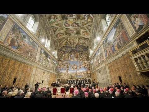 Inside Sistine Chapel on 500th anniversary