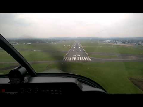 G-GORA landing at Exeter  Airport in the expert hands of Captain Julian