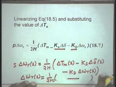Lec-18 Small Signal Stability of a Single Machine Infinite Bus System-Part-1