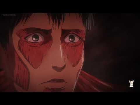 [HD] Eren Yeager & Armin VS Collosal Titan FULL FIGHT | Eng Sub