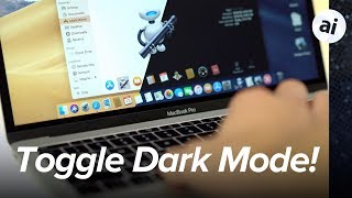 Toggle Mojave Dark Mode On & Off with Keyboard or Touch Bar!