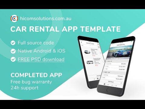 App template for car rental solution  Android, iOS available