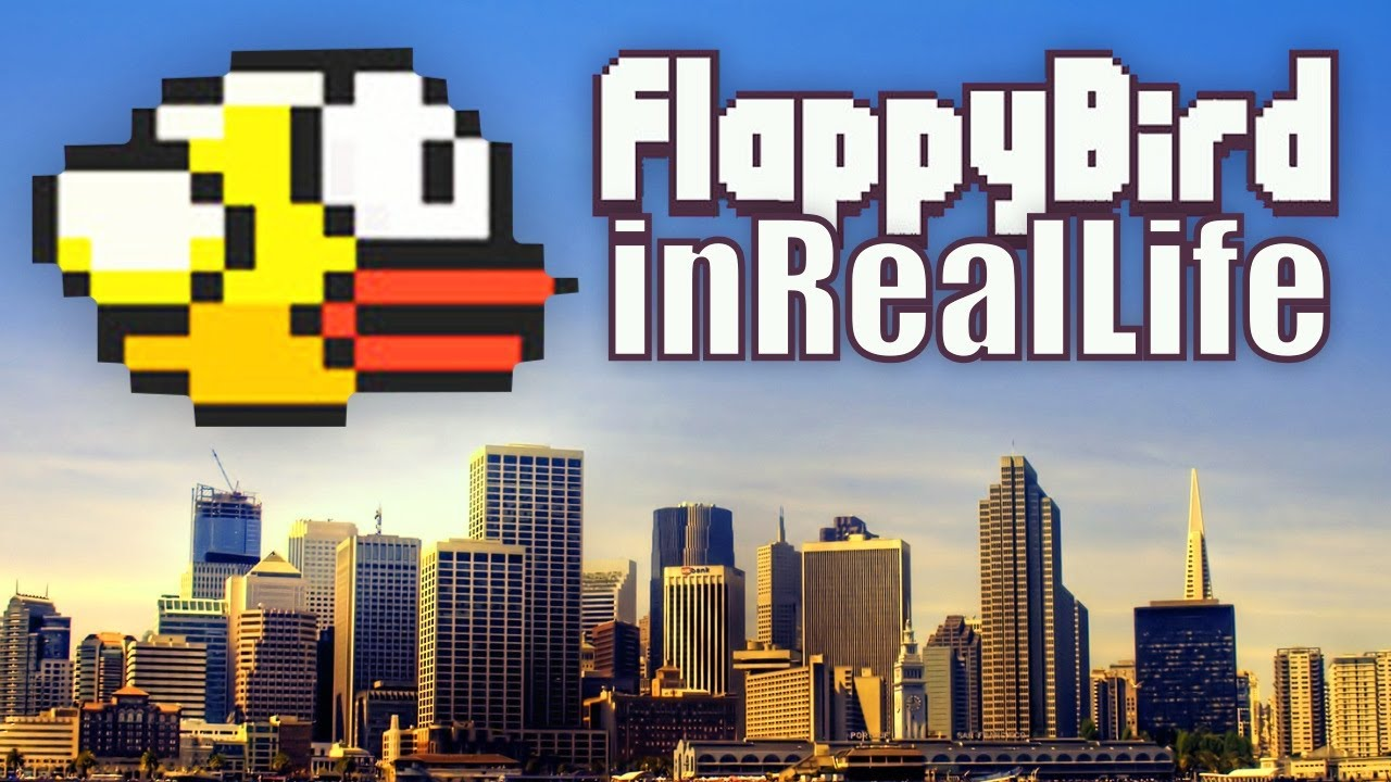 Flappy Bird In Real Life YouTube - Flappy bird in real life