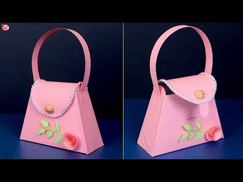 Paper Purse !! How to Make Purse at Home    DIY Craft
