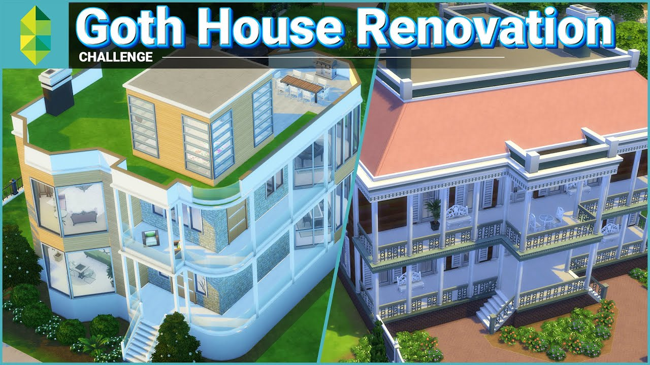 Goth house renovation with emma blackery sims 4 youtube for How to get your house renovated for free