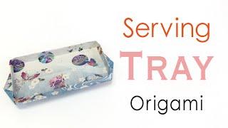 Origami Paper Serving Food Tray ✨DIY✨ - Origami Kawaii 〔#154〕