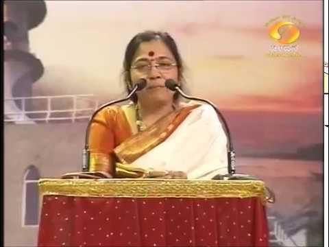 Kasturi Shankar In Madhura Madhuravee Manjula Ghaana DD Chandana pt1
