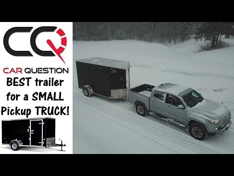 Ideal Cargo Trailer: Light and Easy to Tow!!   Enclosed trailer presentation