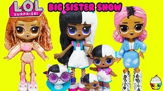LOL Surprise Big Sister Show Exclusives Compilation Baby Next Door, Instagold, Jet Set QT