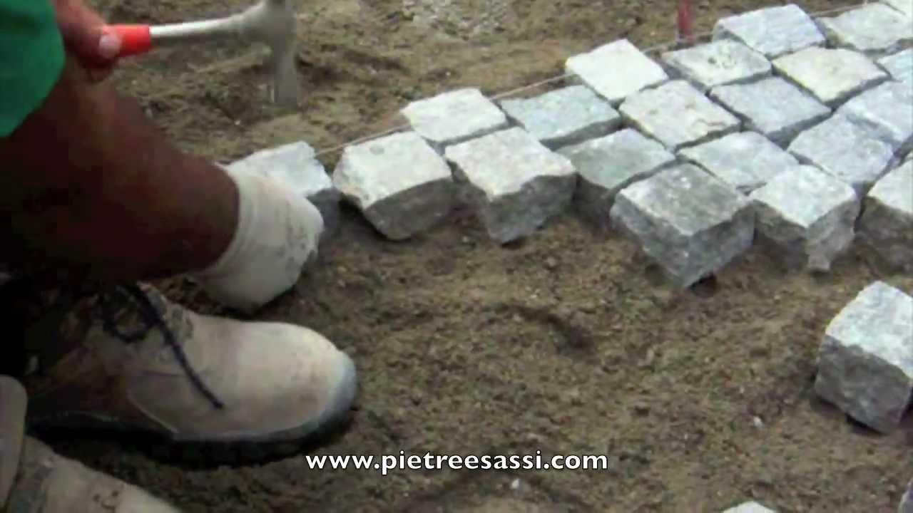 Pietreesassi posa pavimento esterno in cubetti di - Posa pavimento esterno su cemento ...