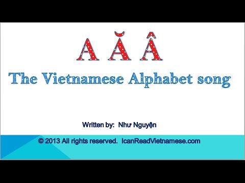 The Vietnamese Alphabet Song  I Can Read Vietnamese