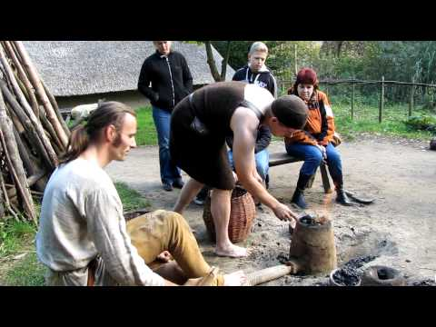 Bronze age copper smelting