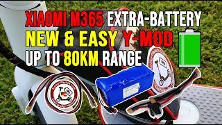 Xiaomi M365 🛴 *NEW* BATTERY Y-MOD 🔋 Tuning & upgrade up to 80KM -Extra Batterypack = DOUBLE RANGE!