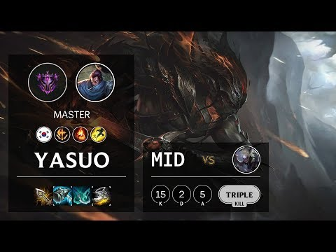 Yasuo Mid Vs Diana - KR Master Patch 10.5