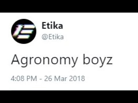 The Origin of the Agronomy Boyz [Etika Stream Highlight]