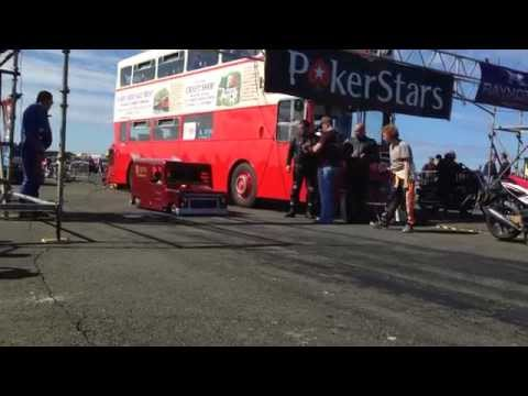 PatVan Racing - PokerStars - Jurby, Isle Of Man - Pat Van, Bike Engined Dragster, Express Van