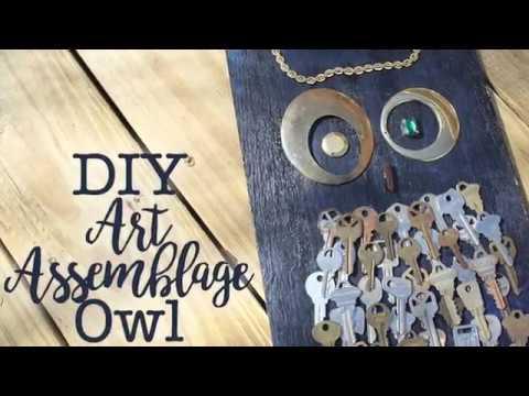 DIY Assemblage Owl