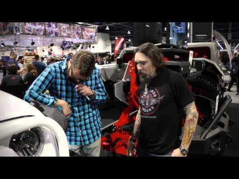 Jeff Kelderman and Rutledge Wood check out the Kelderman fitted Jeep