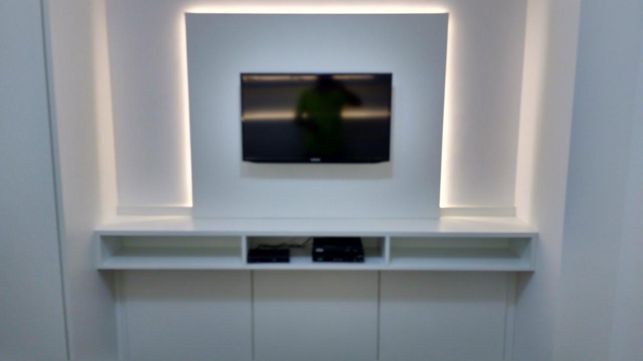 Painel Para Sala De Tv Planejado Dahdit Com Cole O De Fotos  ~ Painel De Tv Para Quarto Planejado