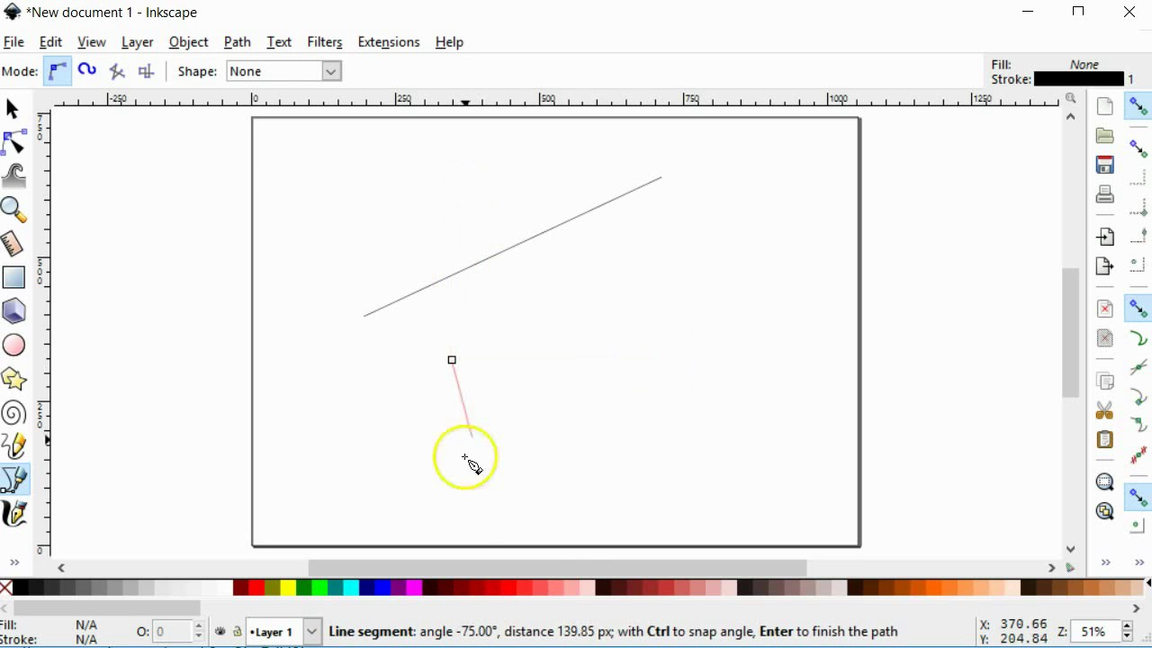 Drawing Lines With Inkscape : Inkscape draw a straight line youtube