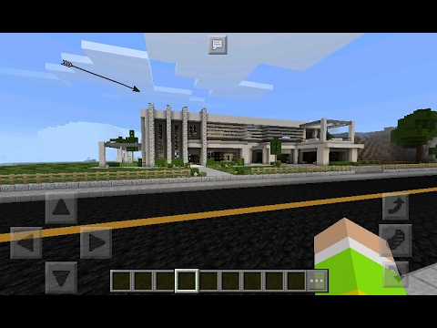 A maior casa moderna do minecraft pocket edition youtube for Casa moderna minecraft pe 0 10 5