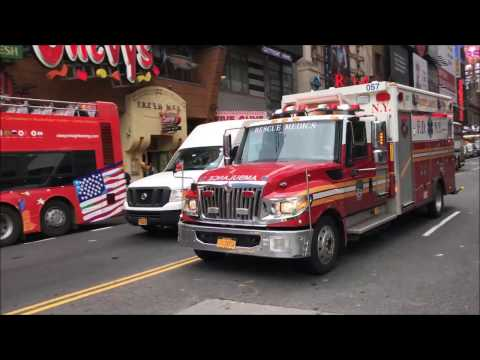 COMPILATION OF NEW YORK CITY EMS AMBULANCES RESPONDING IN THE 5 BOROUGHS OF NEW YORK CITY.  53