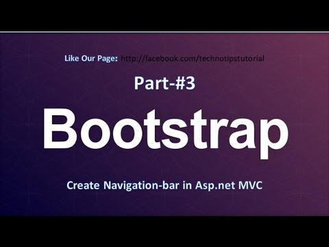How to create  Navigation bar in ASP.NET MVC 100% for beginner| Bootstrap Tutorial - #3