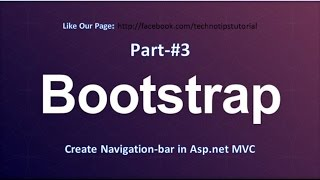 How to create Navigation bar in ASP NET MVC 100 for beginner Bootstrap Tutorial 3